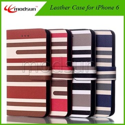 Best Selling Magnet Leather Flip Case For iPhone 6,For Genuine Leather iPhone 6 Case