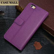 Casemall Litchi Leather Mobile Phone Case,For iPhone 6 Plus Case Flip Wallet