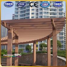 Outdoor Waterproof WPC Pergola For Garden Construction