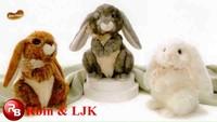 OEM soft ICTI plush toy factory long legs rabbit plush toy