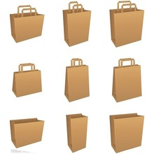 factory cheap price brown paper bags with handles wholesale