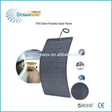 High Efficiency 75W Sunpower Solar Panel Bendable Semi Flexible Solar Panel Pv solar panel price