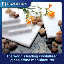 2014 high quality super white polished faux stone wall tile