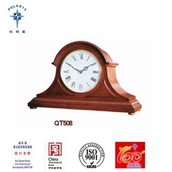 China Yantai Wooden Antique Mantel Table Clock