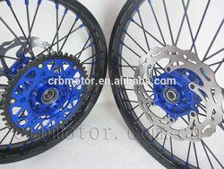 Motorcycle wheels/CRF 125/250/450 motorcycle complete wheel sets