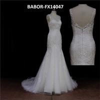 Sultry brown off shoulder cap sleeve low back bridal dress mother
