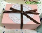 12 Small Ribbon Bow Packing Box Takeaway Cardboard Cupcake Box