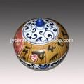 barato y nuevo diseño colorido tarro de cerámica hecha en jingdezhen