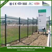 cheap balck decorative outdoors steel fencing