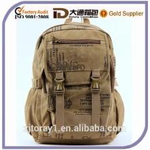 Small School Bookbag Laptop Durable Canvas Backpack