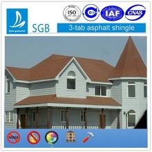 decorative roof shingles /asphalt roof shingle tile /colorful asphalt shingle