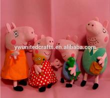 Plush toys/pink plush pig/make stuffed pig