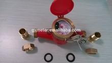 Impulse transfer water meter multi jet hot or cold water meter