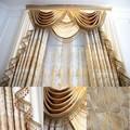 Premium bordado de rayas verticales cortinas para Windows
