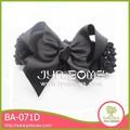 Il nero farfalla ba-071d ragazze fiocco di raso elastico fascia