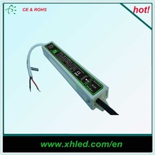 High efficiency DC 12V 24V stable working 35000h waterproof IP67 led driver 20w for outdoor lighting