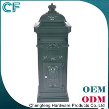 Top Grade Crown Decorative Green Mailbox Post