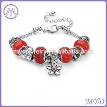 2014 popular murano glass beads DIY european bracelet