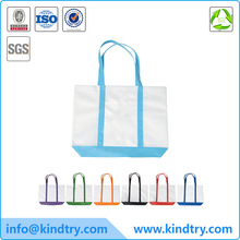 Large shopping tote bag with trim colors