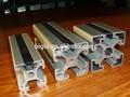 de aluminio perfil de ascensor para recubrimiento de polvo blanco