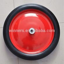 """14""""x 1.75"""" steel rim wheel barrow solid rubber wheel"""