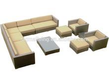 2014 di alta qualità 11 pc usati lusso gruppo sedie rattan divano per esterni