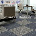 dt llanura azul pp alfombra azulejo de goma de nuevo para la oficina de negocios