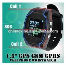 HOT Quad Band Personal Watch GSM/GPS Tracker Wrist watch Phone