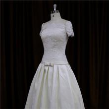 Understated opulent brush train bridal wedding dress for fat women