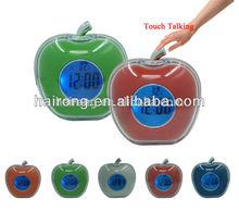 HAIRONG digital apple shaped led alarm clock