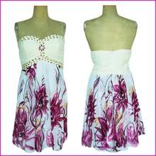 New Design Elegant Beaded Ladies Off-Shoulder Dress Shoulderless Cocktail Dress