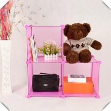 pink color 3 cubes kids bedroom storage FH-AL0013