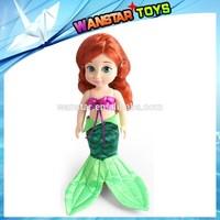 12 inch 2014 hot sale Wholesale soft plastic mermaid frozen princess doll
