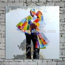 Love romantic oil paintings dance couple
