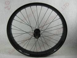 Bitex hubs 26 inch carbon bicycle wheels,80mm width carbon fat bike rim, fat bike wheelset for 170*12mm alxe