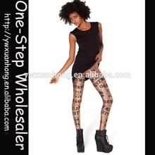 2015 Fashion Design Dropship Newest Cheap Printed Leggings