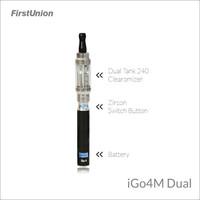 Dual tank 240 clearomizer e-cigarette igo4M dual electronic cigarette manufacturer china
