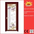 Redução de ruído soberba de vidro portas de alumínio para o quarto sc-aad074