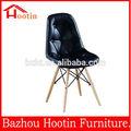 2014 de polipropileno de plástico silla de madera los modelos de sillas de ocio asiento café