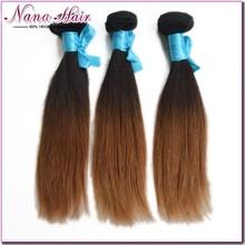 NANA hair High quality Hair Factory Price straight colour #1b 33 ombre grade 100% human bundles indian virgin hair