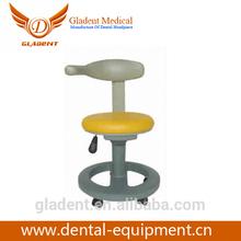 Foshan Gladent aço e Base de PU móveis usados unidades dentárias / confortável dentista fezes