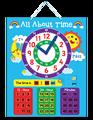 E1001 2014 caliente a estrenar educativos juego de puzzle contar la hora del reloj del magnética de la pared para los niños