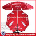 Idea de coca paraguas al aire libre, cola reorden artículo, cola de la serie paraguas promocional