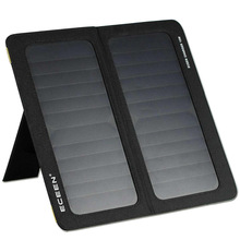 ECEEN 13W Dual-Port Foldable Solar Panel Portable Charger for iPhones, Smartphones, Tablets, External Battery Packs, GPS etc.