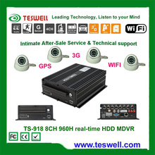 Mobile DVR with 8-channel 960H, Ideal for Bus/Trucks/Trailers/Vans/Boats