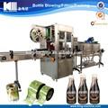 pvc etiqueta de la reducción café botella máquina de etiquetado