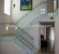 klar gehärtetem glasgeländer für die Treppe