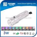 decoração de liga de alumínio rgb 10 3w cor luz conduzida da tocha lanterna