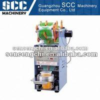 SCC-FW-Z Semi-automatic Bubble Tea mesin cup sealer full otomatis harga ekonomis