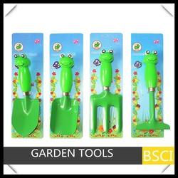 Garden frog handle children tools set-Trowel,Spade,Fork,Rake